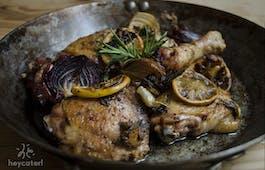 Catering Menü Mediterranes Mittagessen