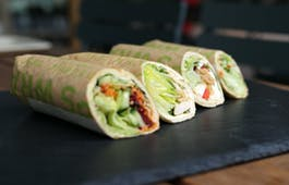 Catering Menü Gesunde Lunch-Wraps