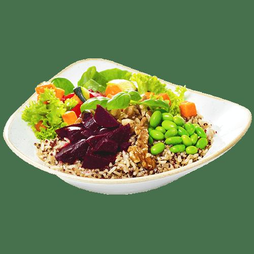 Catering Menü Reichhaltige Wraps und Bowls