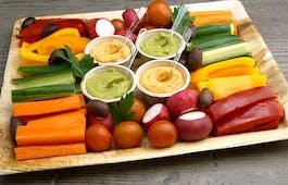 Catering Menü Gemüsestickplatte mit Dip