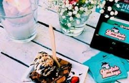 Catering Menü Mini Pancakes und Brownies
