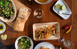 Catering Menü Gebratene Aubergine mit Salat